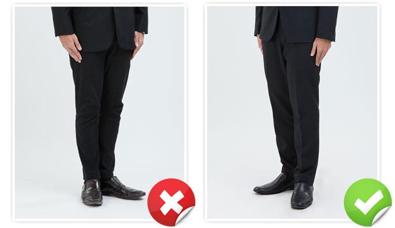 ชุดสูทและรองเท้าผู้ชายสำหรับถ่ายภาพสมัครแอร์สจ๊วต
