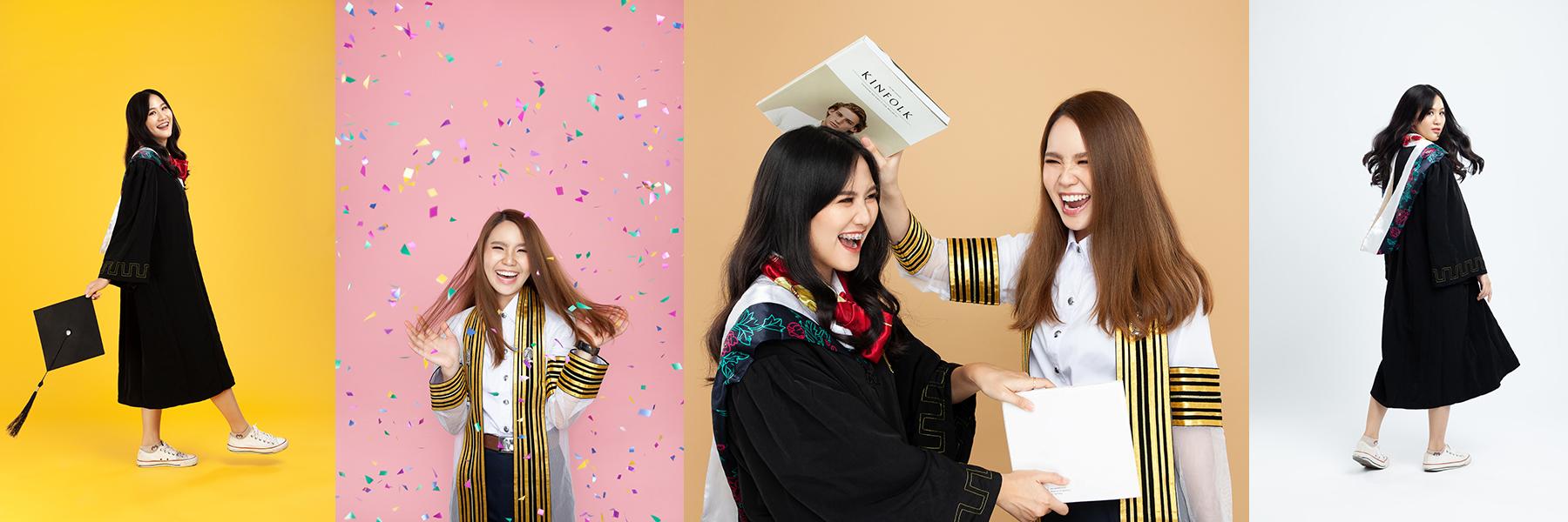 ถ่ายภาพ Graduation Portrait ฉากสี